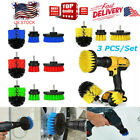 3Pcs Set Tile Grout Power Scrubber Cleaning Drill Brush Tub Cleaner Combo kit