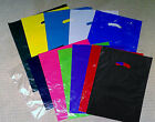 100 12x15 Die Cut Plastic  Merchandise Retail Store Party  Gift Bags Colored