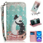 Fashion Lovely cartoon Pattern Magnetic Leather Wallet Stand Case phone Cover #2