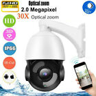 30X Zoom 1080P HD PTZ Speed Dome IP Camera Outdoor Security IR Night View 360°