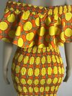 Afrikstyle African Print Ankara Elastic Long Dress UK Sizes 10-16