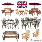 Garden Patio Furniture Set Wood Aluminium Picnic Table Chairs Pub Bench Parasol