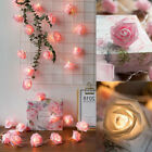 20/40LED Rose Light String Fairy Lights For Bedroom Xmas Wedding Party Decor
