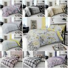 4Pc Reversible Duvet Cover with Pillowcase and Fitted Sheet Bedding Set All Size image