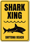 Shark Xing Sign, Personalized Beach Location Name Metal Wall Decor - Aluminum