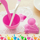 Face Mask Maker DIY Tools Spoons Brush Stick Mixing Bowl Face Care Set 4 In 1