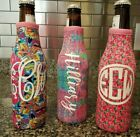 Personalized LILLY inspired Beer Zipper KOOZIE Cooler  ~NEW~