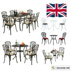 3/5/7 Pcs Bistro Set Garden Patio Outdoor Table Chairs Cast Aluminium Furniture