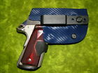 LOOK!!! SUPER NICE IWB POLICE BLUE CARBON KYDEX HOLSTER HAND MADE & FITTED