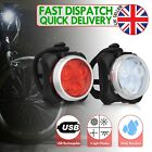 Rechargeable USB LED Bike Bicycle Head and Tail Cycling Front Back Headlight Set <br/> 6000+ SOLD - 1 Year UK WARRANTY - UK Standard QUALITY