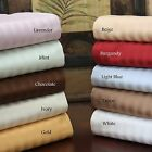 US Full XL Bedding Collection 1000TC Egyptian Cotton Striped Colors Select item image