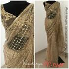 Saree Pakistani Beautiful Soft Mono Net Designer Wedding Indian Sari Blouse New