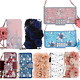 Girl Bling Glitter Flip Leather Flower Wallet Case Card Slot Handbag Chain Cover photo