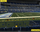 2 Front row Houston Texans at Indianapolis Colts tickets Section 117 row 1