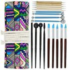 18 Pcs Polymer Modeling Clay Sculpting Tools, Dotting Pen Clay Tools Set + Case image