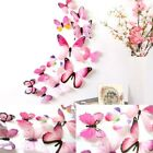 12x 3d Butterfly Wall Stickers Home Decor Room Decoration Sticker Bedroom Girl M