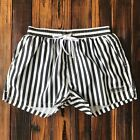 Desmiit Swimwear Swimming Shorts for Men Swimming Trunks Plus Size Striped
