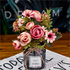 Real Touch Red Rose Artificial Silk Flower Peony Pink Wedding Bouquet Home Decor