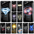 Luxury Batman Marvel Luminous Tempered Glass Cases For iPhone XS MAX XR 8 7 6 6s