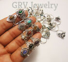100pcs Rings Wholesale Lot Mix Gemstones 925 Sterling Silver Jewellery