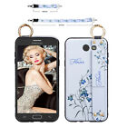 For Samsung Galaxy J7 Sky Pro/J7 Prime Halo Phone Case Bling Wrist Strap Cover