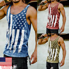 US Gym Men Muscle Sleeveless Tank Top Tee Shirt Bodybuilding Sport Fitness Vest image