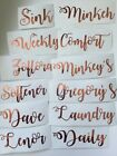 Personalised Mrs Hinch /Zoflora/Lenor Vinyl Stickers Storage Baskets Bottles