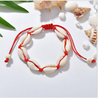 BOHO FESTIVAL BEACH DRAWSTRING ROPE SHELL BEADS ANKLET ANKLE CHAIN UK SELLER