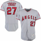 Mike Trout #27 Los Angeles Angels Men's Majestic Gray Road Game Jersey on Ebay