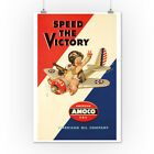 Amoco Speed Victory Leyendecker 1942 Vintage Ad (Posters, Wood & Metal Signs) $12.99 USD on eBay