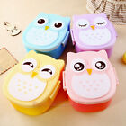 Children Portable Bento Box Cartoon Owl Lunch Meal Box Microwave Oven Tableware