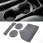 Carbon Style Console Cup Holder Insert Tray Pad 4pcs for KIA 2017-18 Sportage QL