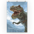 T Rex Dinosaur - Lantern Press Artwork (Posters, Wood & Metal Signs)