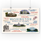 Washington, DC - Typography & Icons - LP Artwork (Posters, Wood & Metal Signs)