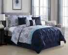 11 Piece Kattya Blue Reversible Bed in a Bag Set image
