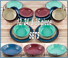 Внешний вид - Rustic Melamine Dinnerware Set Country Dishes Shatterproof Serving Bowls NEW