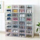 Внешний вид - Wholesale Foldable Clear Shoe Boxes Plastic Storage Organizer Stackable Box Tidy