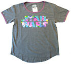 STAR WARS T-shirt Women's (Medium) 80'S Motif  Gray Heather-NEW! $11.93 USD on eBay