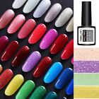 LEMOOC 8ml Nagel Gellack Soak Off Nail Glitter Sequins Nail Art UV Gel Polish