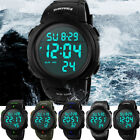 SKMEI Men's Large Number Display LED Digital WR 50M Outdoor Sports Quartz Watch image