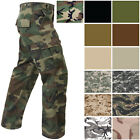 Rothco Paratrooper Fatigues Cargo Camo Pants 8 Pocket Washed Army Tactical
