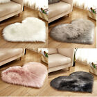 Kyпить Hot Heart Shaped Shaggy Faux Fur Fluffy Rug Hairy Carpet Floor Mat Home Bedroom на еВаy.соm