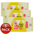 1/3/6/12 x JOHNSON'S BABY SKINCARE WIPES WET TISSUE 20 SHEETS FRAGRANCE FREE