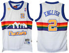 Alex English #2 Denver Nuggets Men Royal White Hardwood Classic Throwback Jersey