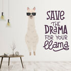 Save The Drama Funny Llama Quote Wall Decal Sticker Ws-47082