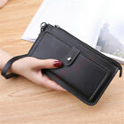Women PU Leather Wallet Case Card Slot Handbag Zipper Purse Wristlet Strap Cover