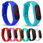 Kids LED Number Display Outdoor Sports Digital Wrist Watch Wristband Novelty