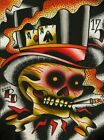 Aces High by Ryan Downie Poker Skull with Cigarette Top Hat Giclee Art Print