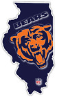 Chicago Bears Illinois State Football Logo Vinyl Sticker Decal Cornhole Wall Car $12.99 USD on eBay