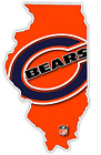 Chicago Bears Illinois State Football Logo Vinyl Sticker Decal Cornhole Wall $12.99 USD on eBay